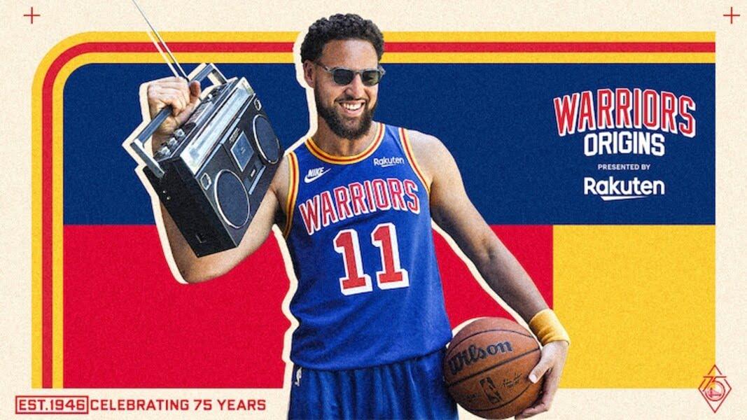 golden state warriors Unveil 2021-22 Warriors Origins Jersey, Presented by Rakuten, Ahead of 75th Anniversary Season