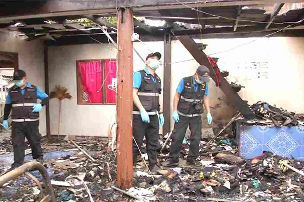 house, Drug Addicted Son Burns Down his Mother Two-Storey Home