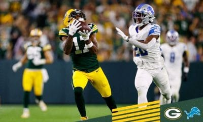 NFL Green Bay Packers Pull Ahead of Detroit Lions 28-17