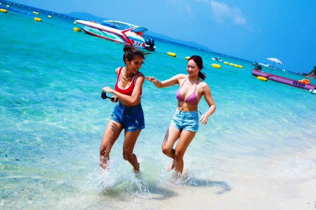 Island, Tourists, Pattaya Thailand's Resort Island of Koh Lan Reopens to Tourists