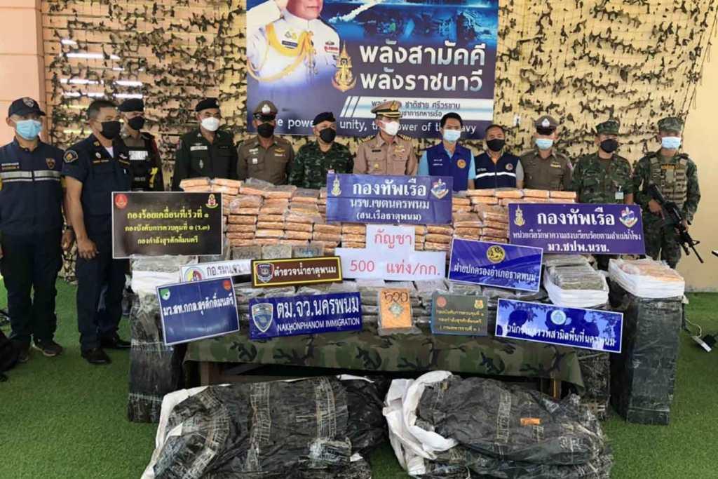 Police Seize 500Kg of Marijuana Left on Mekong River Bank