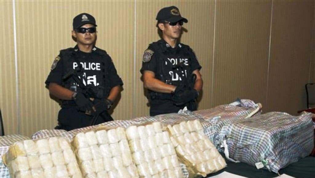 Police in Southern Thailand Seize Huge Haul of Methamphetamine