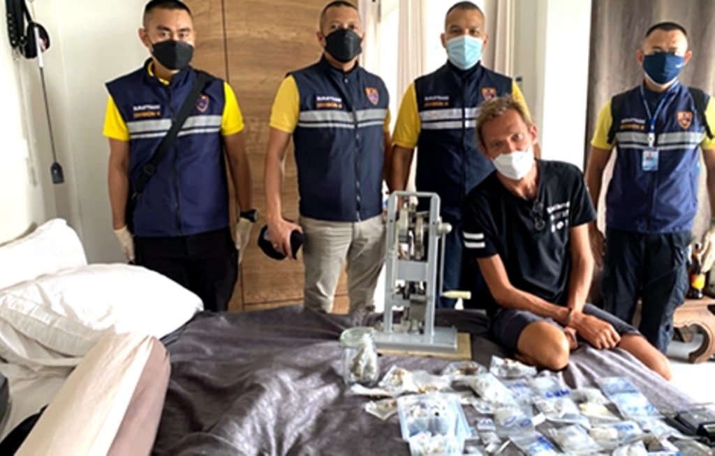 police, Russian Man Arrested for Drug Trafficking in Southern Thailand